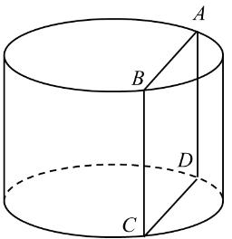 圆柱体的平面图_如图,圆柱体的底面半径为2、高为3,垂直于底面的平面截圆柱体 ...