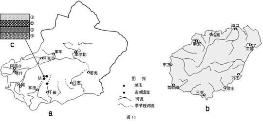"""喀什二中吧_图15和图16是""""某城市规划简图""""及近年该城市统计的""""人口年龄 ..."""
