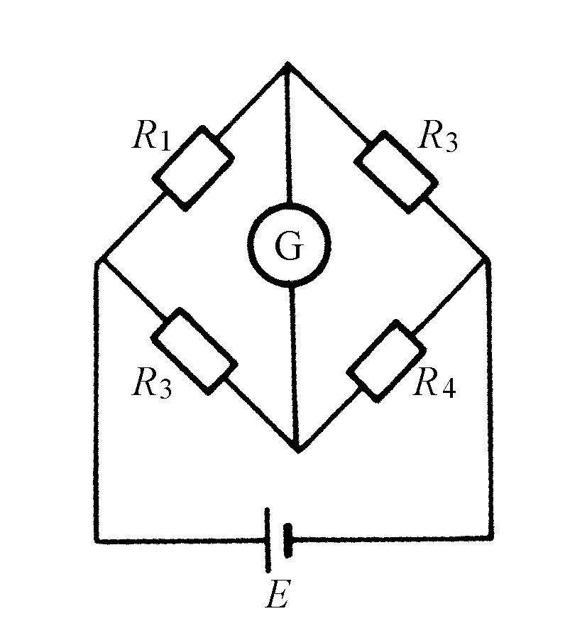 如图a_1所示为一电桥电路,若检流计g电流为零,则各电阻满足:(  ).