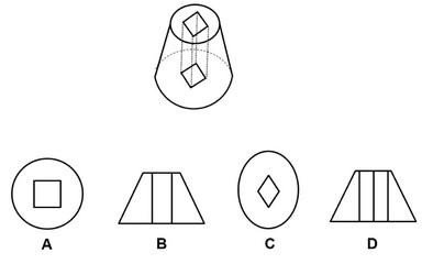 免责申明  左边的立体图形是从正圆台中间垂直向下挖出一个横截面为正